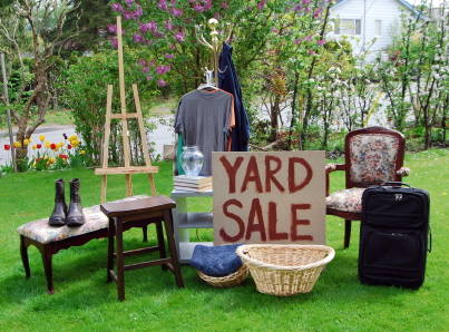 Yard Sale for your home for sale Spring & Summer   The Perfect Time to Host a Neighborhood Sale